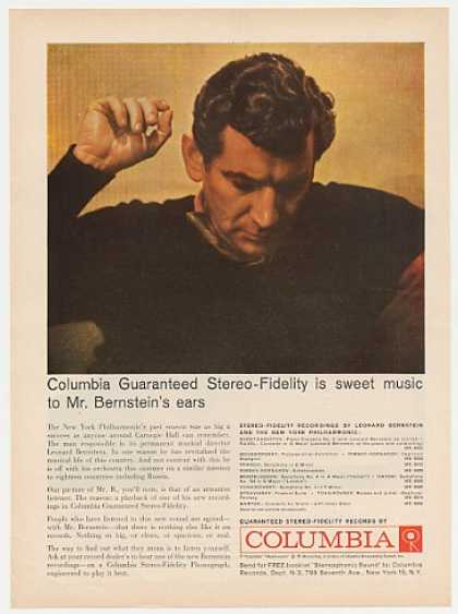 Leonard Bernstein Columbia Stereo Records Photo (1959)
