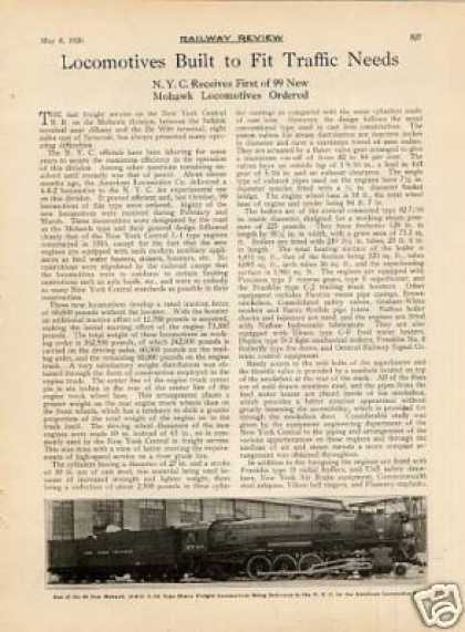 """Locos Built To Fit Needs"" Article/nyc 4-8-2's (1926)"