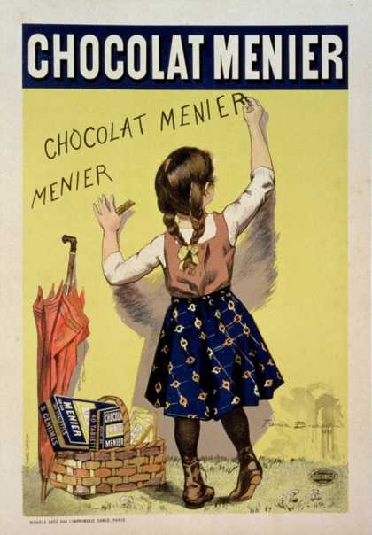 "Reproduction of a Poster Advertising ""Menier"" Chocolate (1893)"