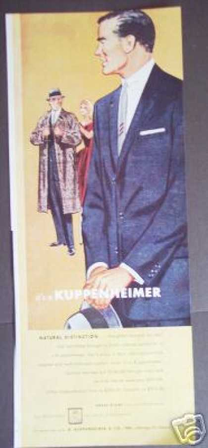 Kuppenheimer Suits Men's Fashion Original Art (1956)