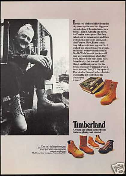 Tractor Operator Timberland Boot Shoe (1976)