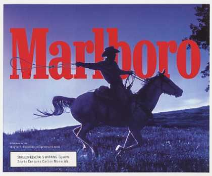 Marlboro Man Ropin Cowboy on Horse (1998)