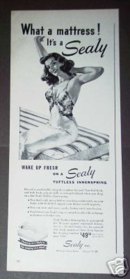Sealy Tuftless Innerspring Mattress (1947)