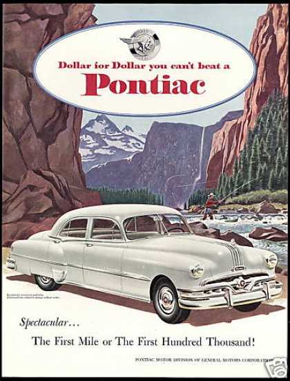 Pontiac Eight 4dr Car Fly Fisherman Vintage (1951)