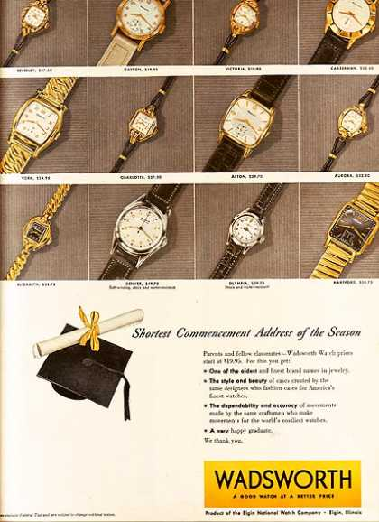 Wadsworth's Wristwatches (1953)