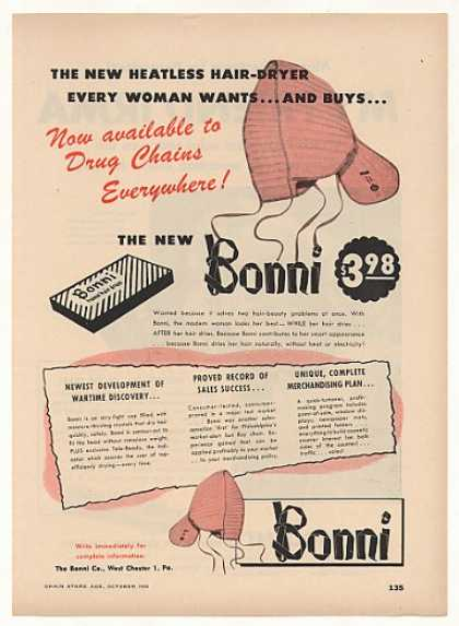 Bonni Heatless Hair Dryer Vintage (1948)