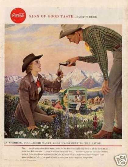 "Coca-cola Ad ""In Wyoming Too... (1958)"