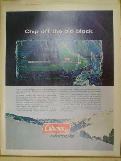 Coleman Skiroule snowmobile snow machine Chip off the old block (1970)