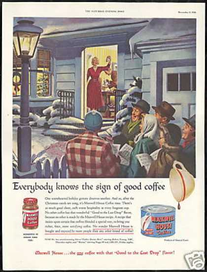 Maxwell House Coffee Christmas Carolers (1950)