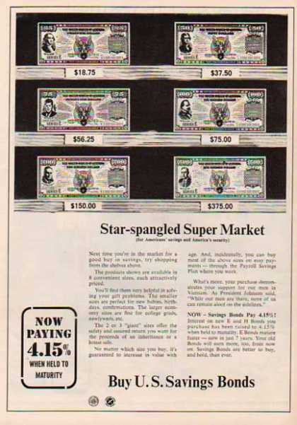 U.S. Savings Bond – Star-spangled Super Market (1967)