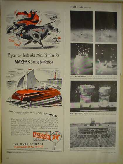 The Texas Company Texaco Marfax Chassis Lubrication (1950)