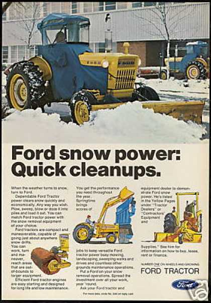 Ford Tractor Snow Plow Sweep Load (1973)