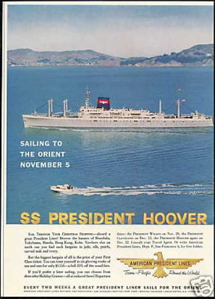 American President Lines SS Hoover Cruise Ship (1959)