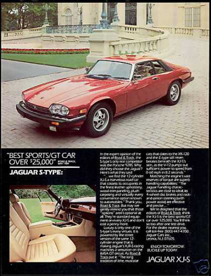 Jaguar S-Type XJ-S XJS Car Photo Vintage (1985)