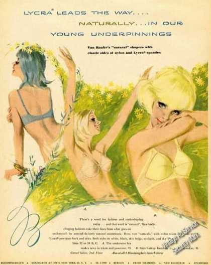Young Underpinnings Rare Bra Art Bloomingdales (1965)