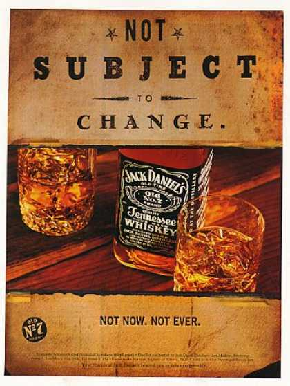 Jack Daniel's Whiskey Not Subject to Change (1997)