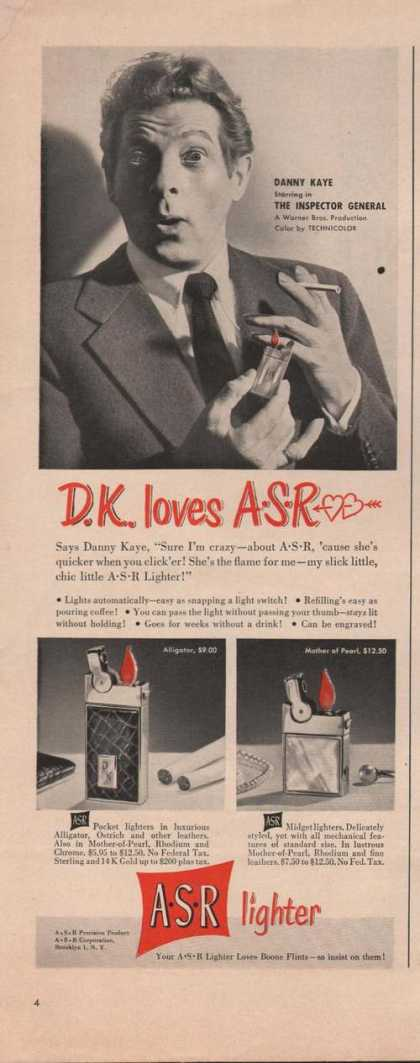 Asr Cigarette Lighter Danny Kay (1949)