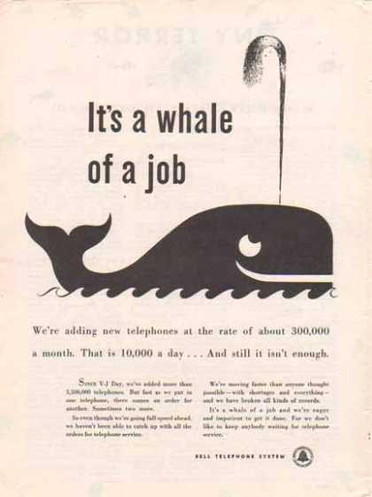Bell Telephone System – It's a whale of a job (1947)