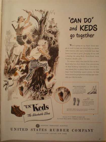 United States Rubber company Keds sneakers (1946)