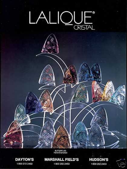 Lalique Cristal Butterflies Enamelled Photo (1991)