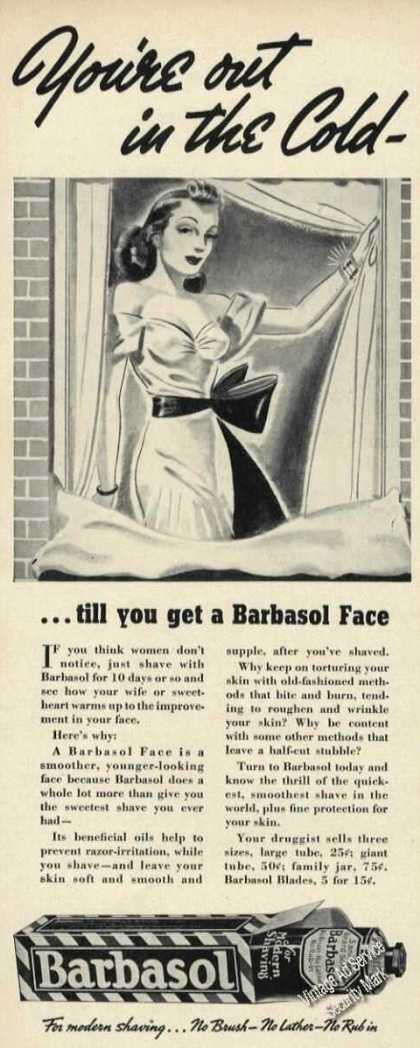 Barbasol You're Out In the Cold Pretty Woman (1939)