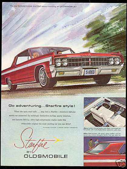 Nice Red Oldsmobile Starfire 2 Dr Car (1963)