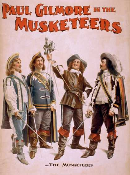 Paul Gilmore in The Musketeers Theatrical Poster