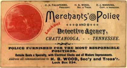 Merchants' Police and Detective Agency's Security Personnel – Merchants' Police and Detective Agency