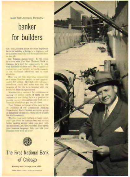 First National Bank of Chicago – Banker For Builders (1958)