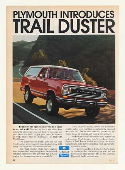 Plymouth Introduces Trail Duster Photo (1974)