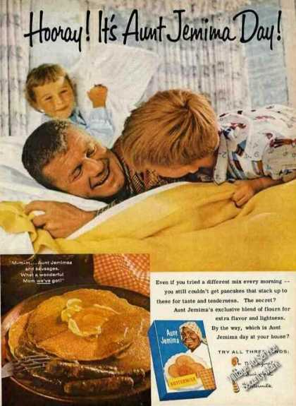 """Hooray! It's Aunt Jemima Day!"" Rare Pancakes (1961)"