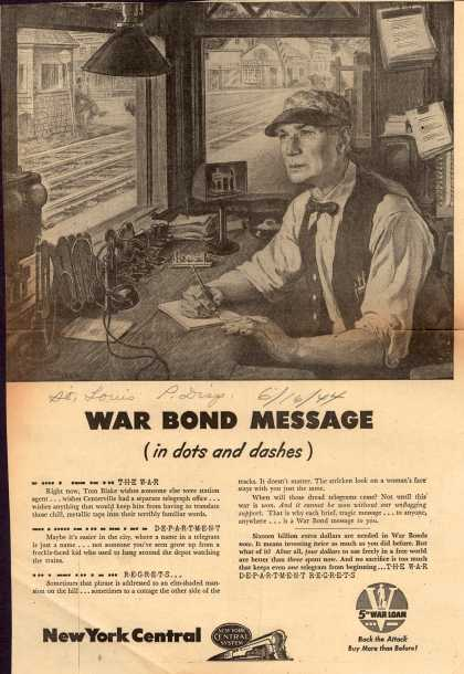 U. S. Treasury Dept.'s 5th War Loan – War Bond Message (in dots and dashes) (1944)
