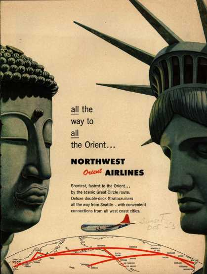 Northwest Airline's Orient – all the way to all the Orient... (1953)