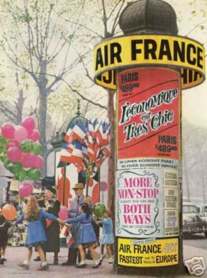 Air France Airlines Travel Europe Photo (1959)