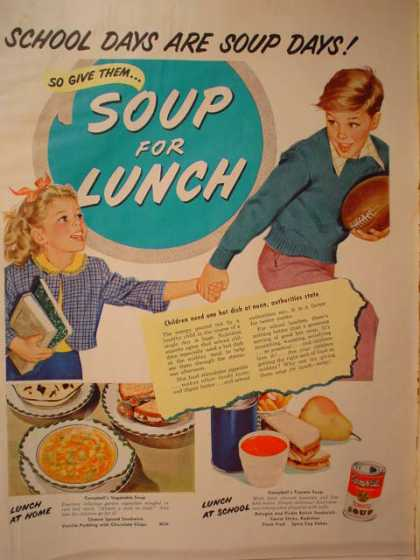 Campbell School days are soup days (1953)
