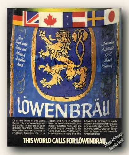 This World Calls for Lowenbrau Beer Advertising (1986)