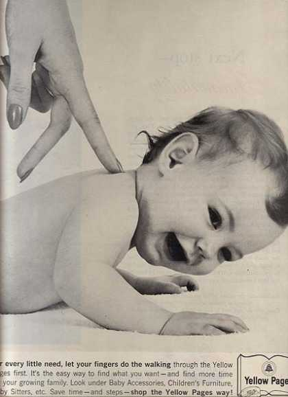 "Yellow Page's ""For every little need, let your fingers do the walking"" (1963)"