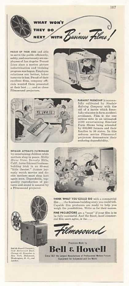 Bell & Howell Filmosound LATL Sinclair Films (1948)
