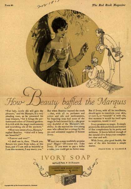 Procter & Gamble Co.'s Ivory Soap – How Beauty baffled the Marquis (1925)
