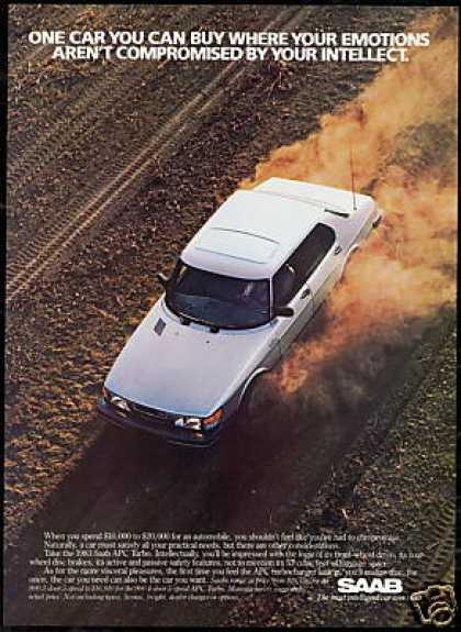 Saab Apc Turbo Car Photo Vintage (1983)