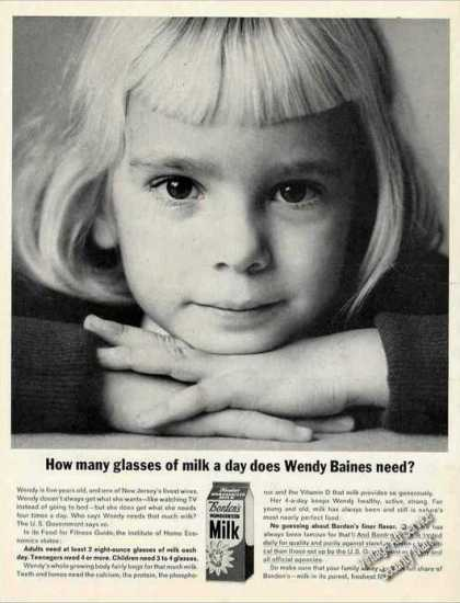 """How Many Glasses of Milk"" Wendy Baines Borden (1963)"