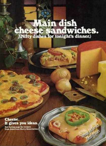 """Cheese. It Gives You Ideas"" Nice Photo (1973)"