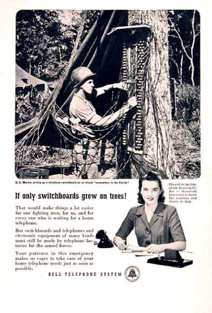 Bell Telephone Switchboard (1945)