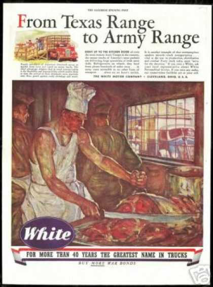 WWII Army Camp Cook Meat White Truck Co (1944)