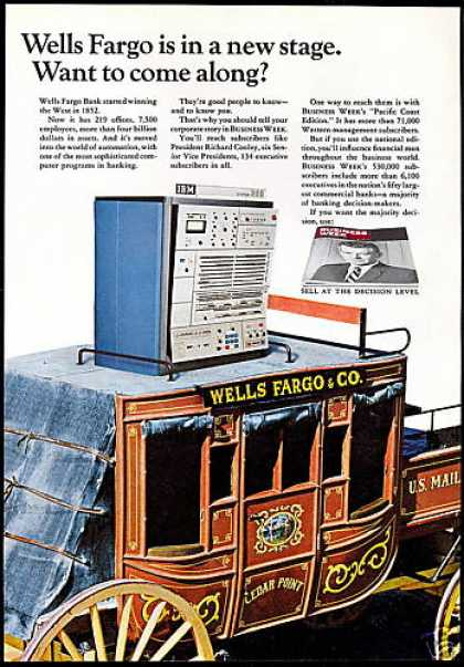 Wells Fargo Bank Stagecoach Business Week (1967)
