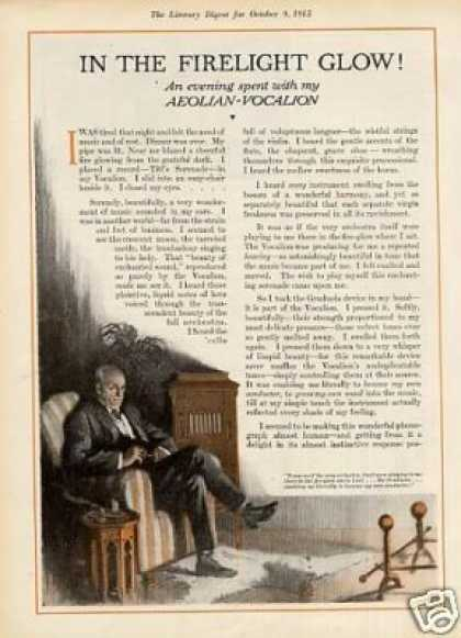Aeolian Vocalion Phonograph Color Ad 2 Page (1915)