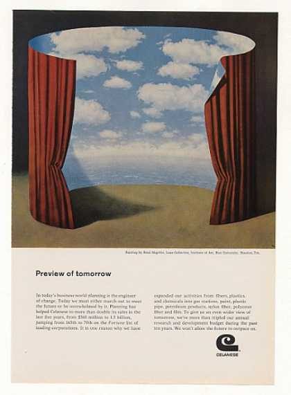 Celanese Preview of Tomorrow Rene Magritte art (1969)