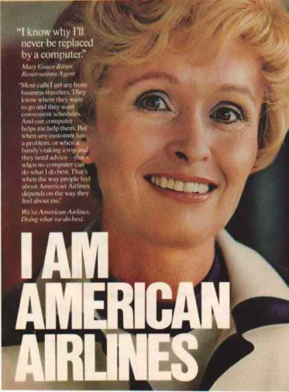 American Airlines – Reservations Agent – Grace Ritter (1976)