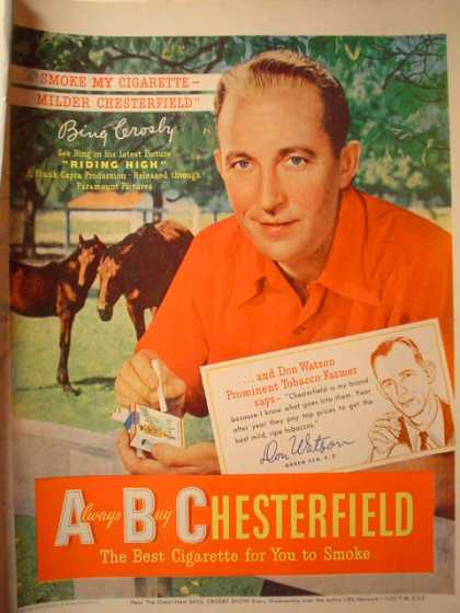 Chesterfield Cigarettes Bing Crosby (1950)
