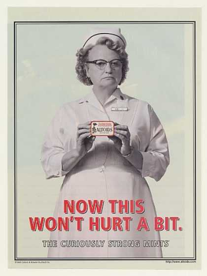Nurse Now This Won't Hurt A Bit Altoids Mints (1999)